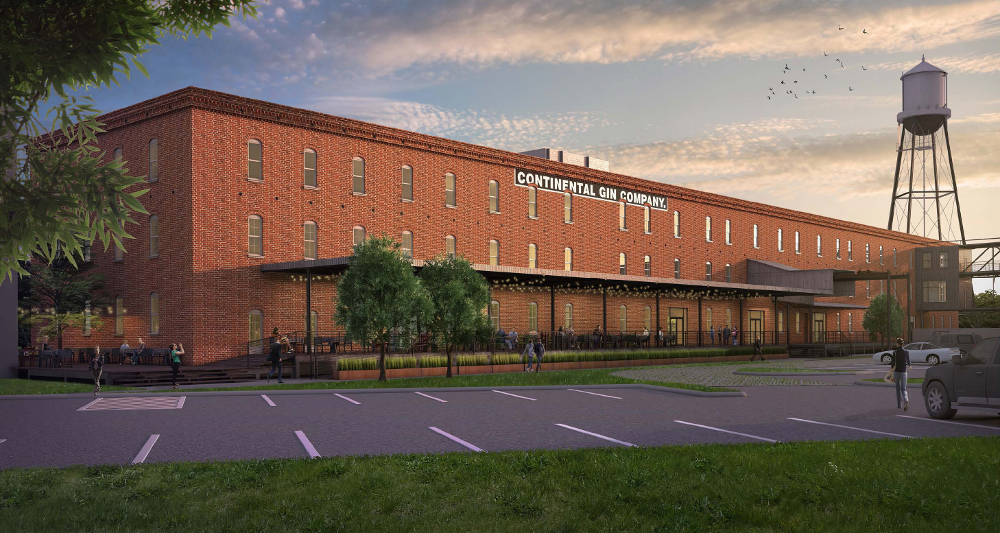 Continental Gin Building rendering