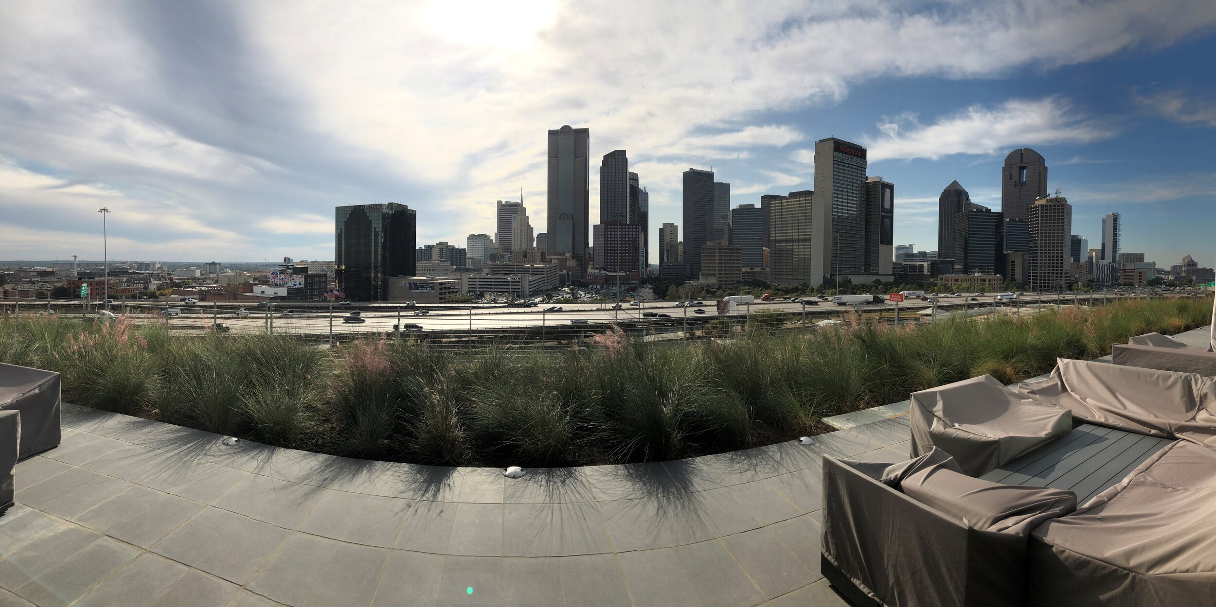Panoramic View of Downtown from Epic's Amenity Deck