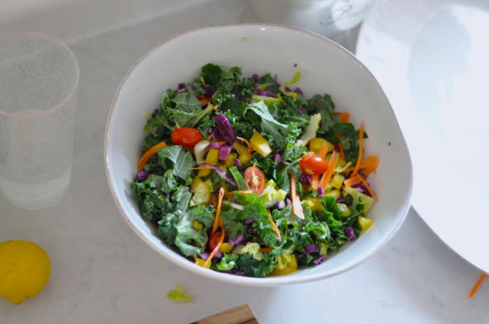 Rainbow Kale Salad | Erin Stanczyk  | Lifestyle Design | eat.move.rest.