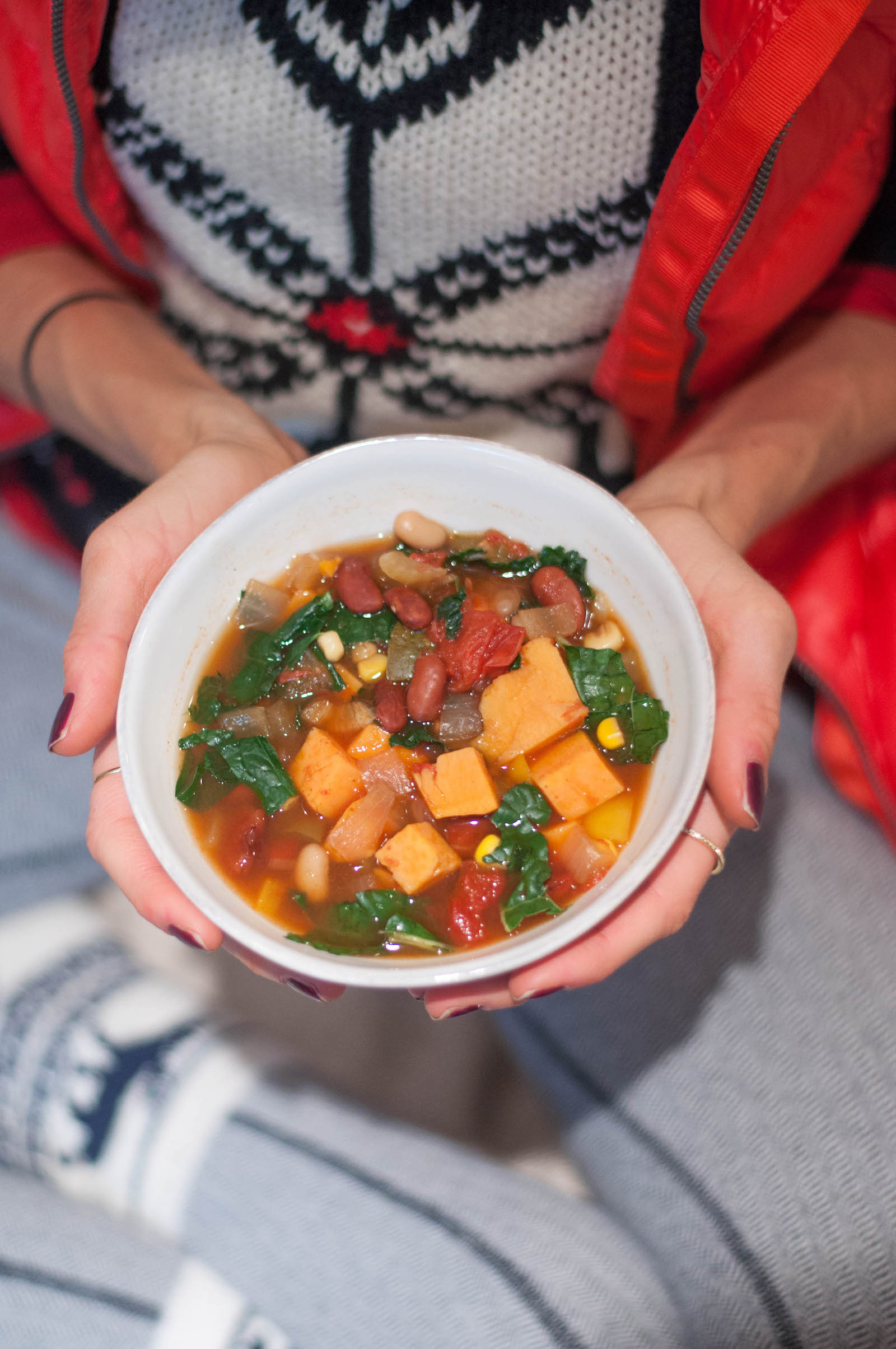 Erin Stanczyk | Lifestyle Design | eat.move.rest. | Hearty Holiday Kale & Sweet Potato Veggie Chili