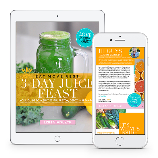 EatMoveRest 3-Day Juice Feast | Erin Stanczyk
