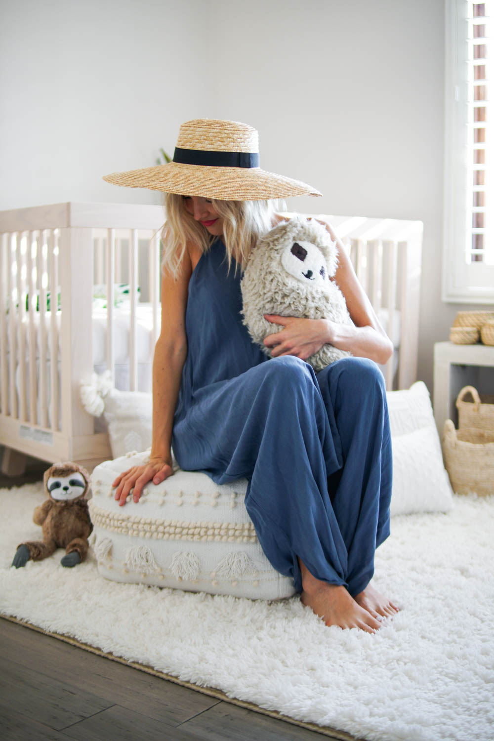 Pictured above:   Target x Opalhouse Lory Pouf  //  Gigi Pip 'The Gwen' Straw Hat