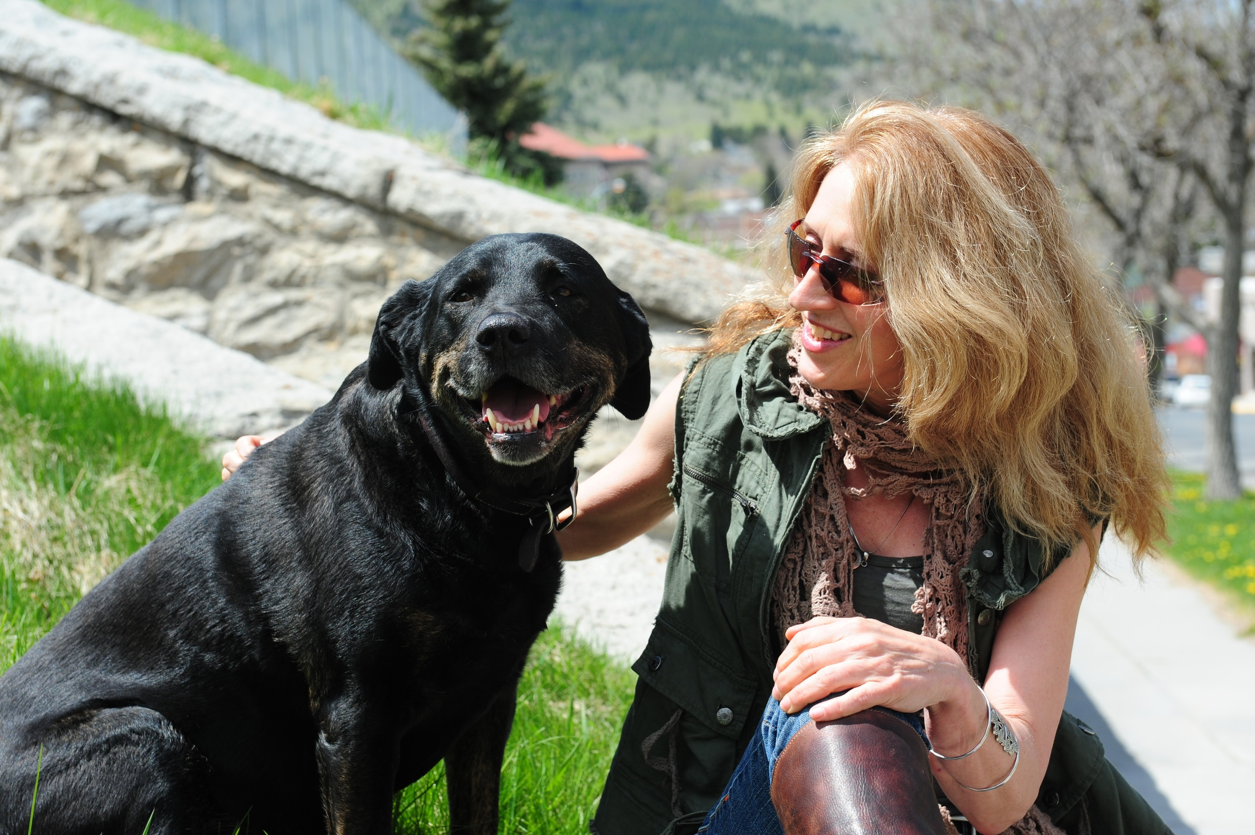 K.M. and her dog, Carmen