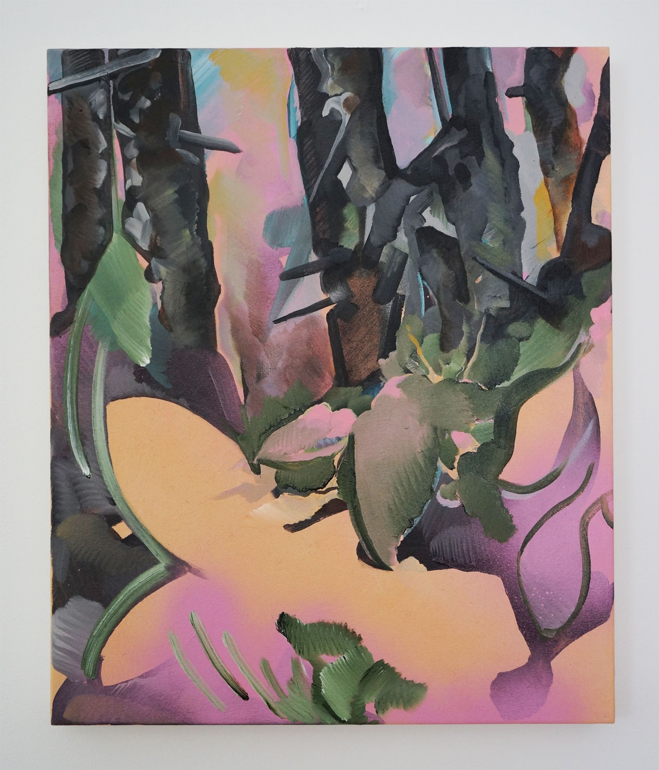 Understory, 2018, acrylic on canvas, 24x20in