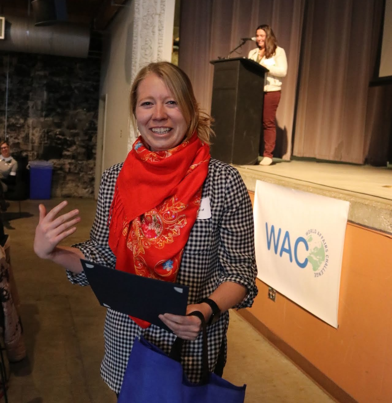 Congratulations to Kate Leaf, middle school teacher from Mackintosh Academy in Boulder for receiving the 2019 World Affairs Challenge Leadership Award for her outstanding work. Kate led two teams: No Shame (cyberbullying) and Mack Justice (racial prejudice and incidences of police brutality).