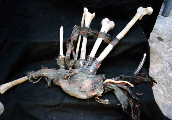 Mark's 'bone bagpipes' from Army of Darkness (Photo:Mark Hofeling)