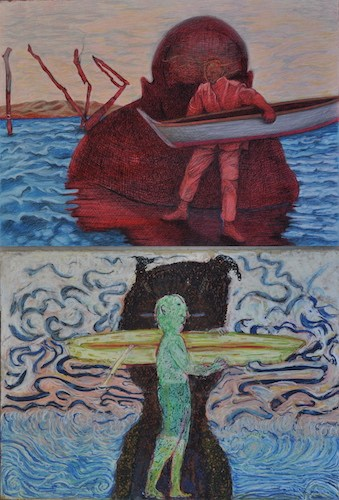 "Title: ""Lake Over / Lake""   Susan's (Top), Bonnie's (bottom)"