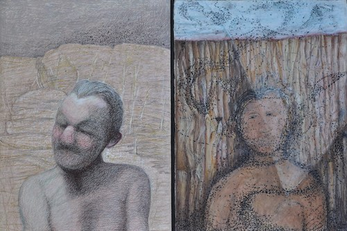 "Title: ""75 Years / Past Yearning""  Susan's (Left), Bonnie's (Right)."