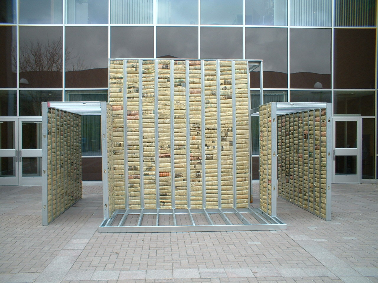 View of an installation called 'static' - 12' x 16' x 18'