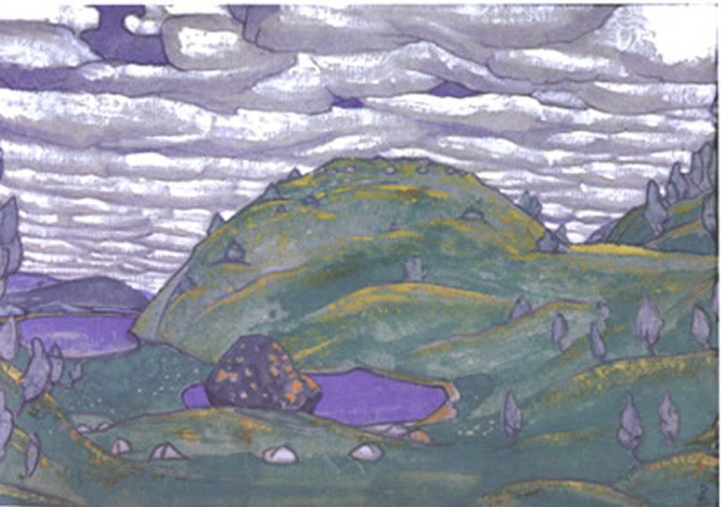 Original Act 1 Set Design by Nicholas Roerich