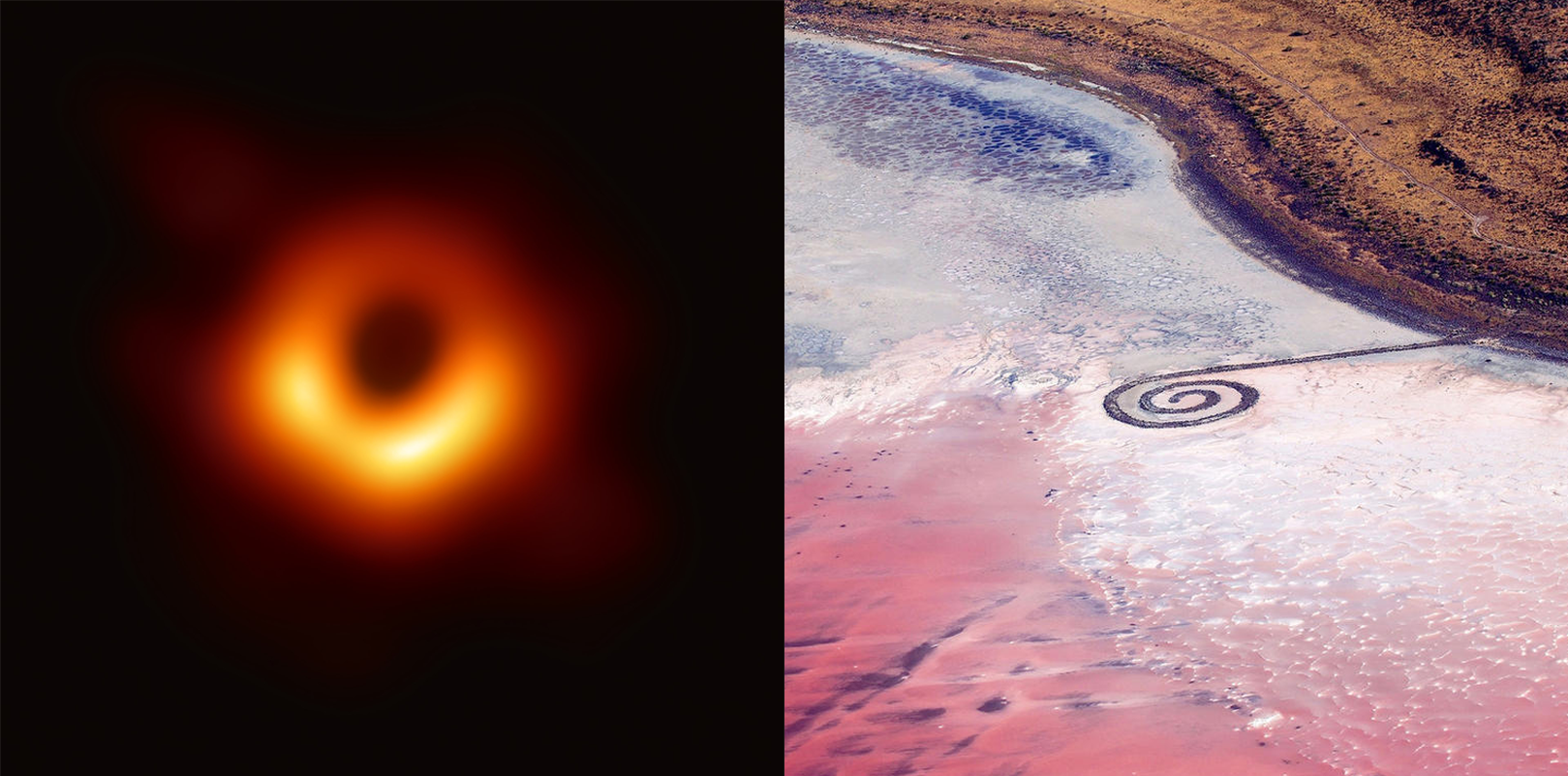 To see more about the  black hole  and  spiral jetty …