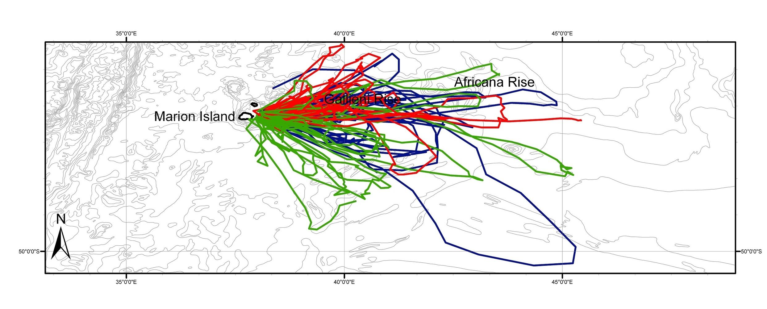 Wege M, Tosh CA, de Bruyn PJN, Bester MN. 2016. Cross-seasonal foraging site fidelity of subantarctic fur seals: implications for marine conservation areas. Marine Ecology Progress Series 554: 225-239