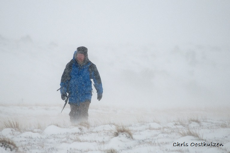 Chris Oosthuizen on expedition.