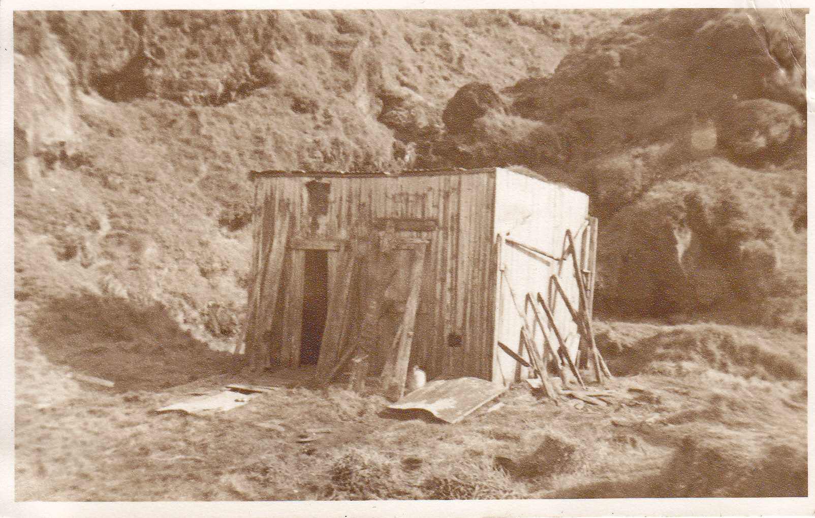 The very first huts - remains from the sealing days 1950's