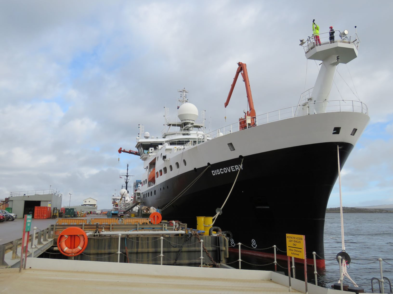 The RRS Discovery in port. Photo: Marthan Bester