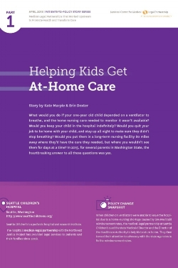 national center's patients-to-policy story  MLP has been featured as the first patients-to-policy story in the National Center for MLP's policy story series. Click on the image above to read about our advocacy efforts with at-home care.