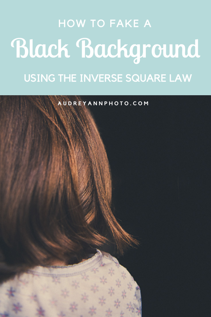 Photography Tutorial: how to easily fake a black background using the inverse square law.
