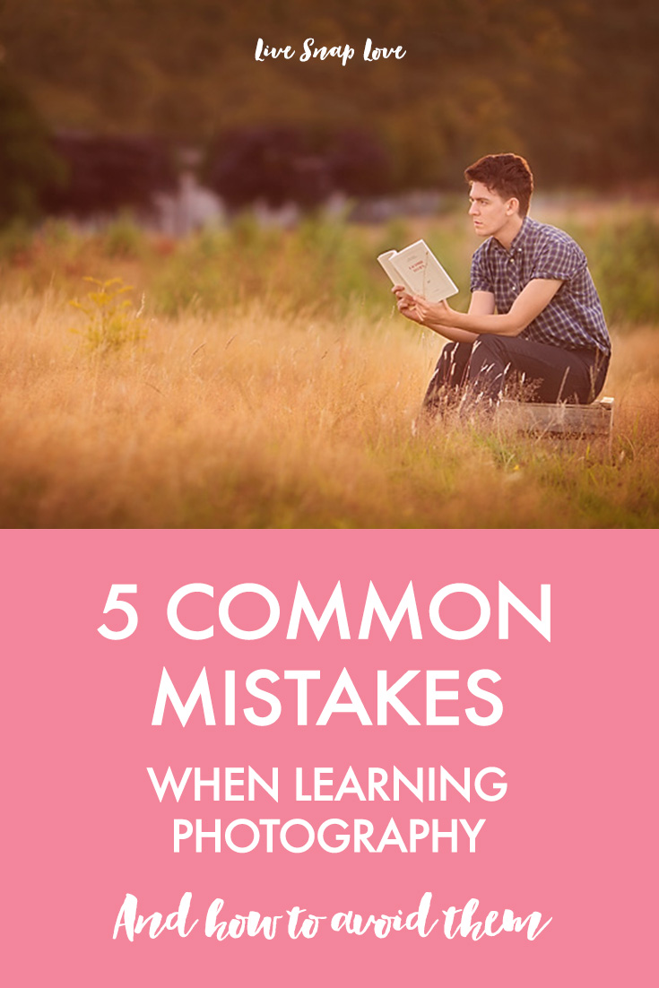 Are you making any of these mistakes when learning photography? Click through to read the 5 most common beginner photography mistakes, and what you can do to avoid them!