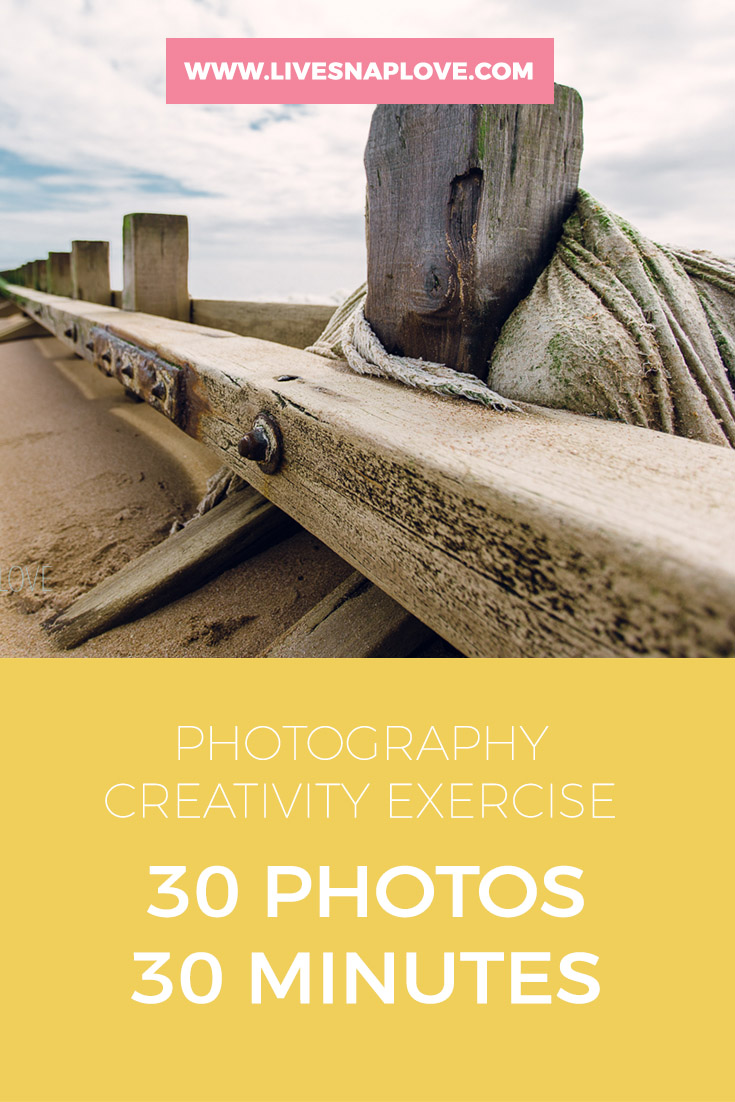 Try out the 30 in 30 photography creativity exercise | photography project ideas