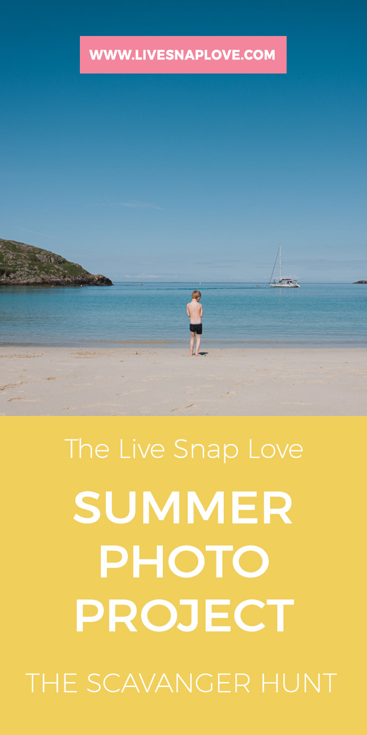 Looking for a photography project for summer? Then how about a Summer Scavenger Hunt!  Get loads of photo ideas for summer with this downloadable summer photo checklist