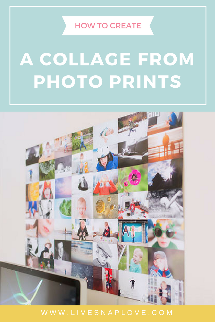 Learn how to make your own photo collage from prints in this photo display idea | how to display photos | photo crafts