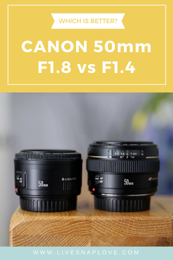 Which canon lens is better - the 50mm F1.8 or the F1.4 version? Get an in depth lens comparison in this guide!
