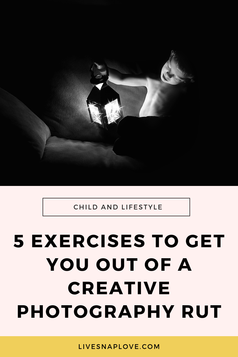 Photography project ideas - 5 creative exercises you can do to help you out of a photography rut