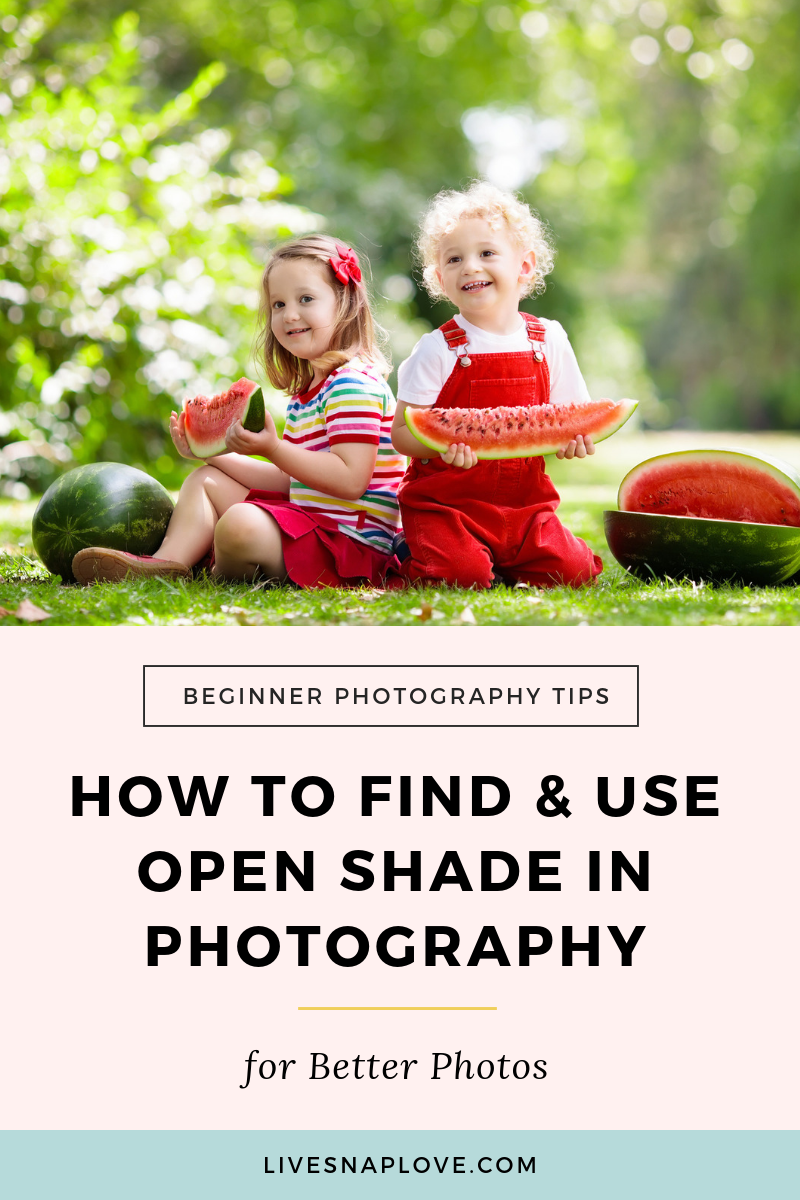 Learn what open shade in photography is and how to find and use it in this photography lighting tutorial! | Photography Tips | Beginner Photography Tutorial