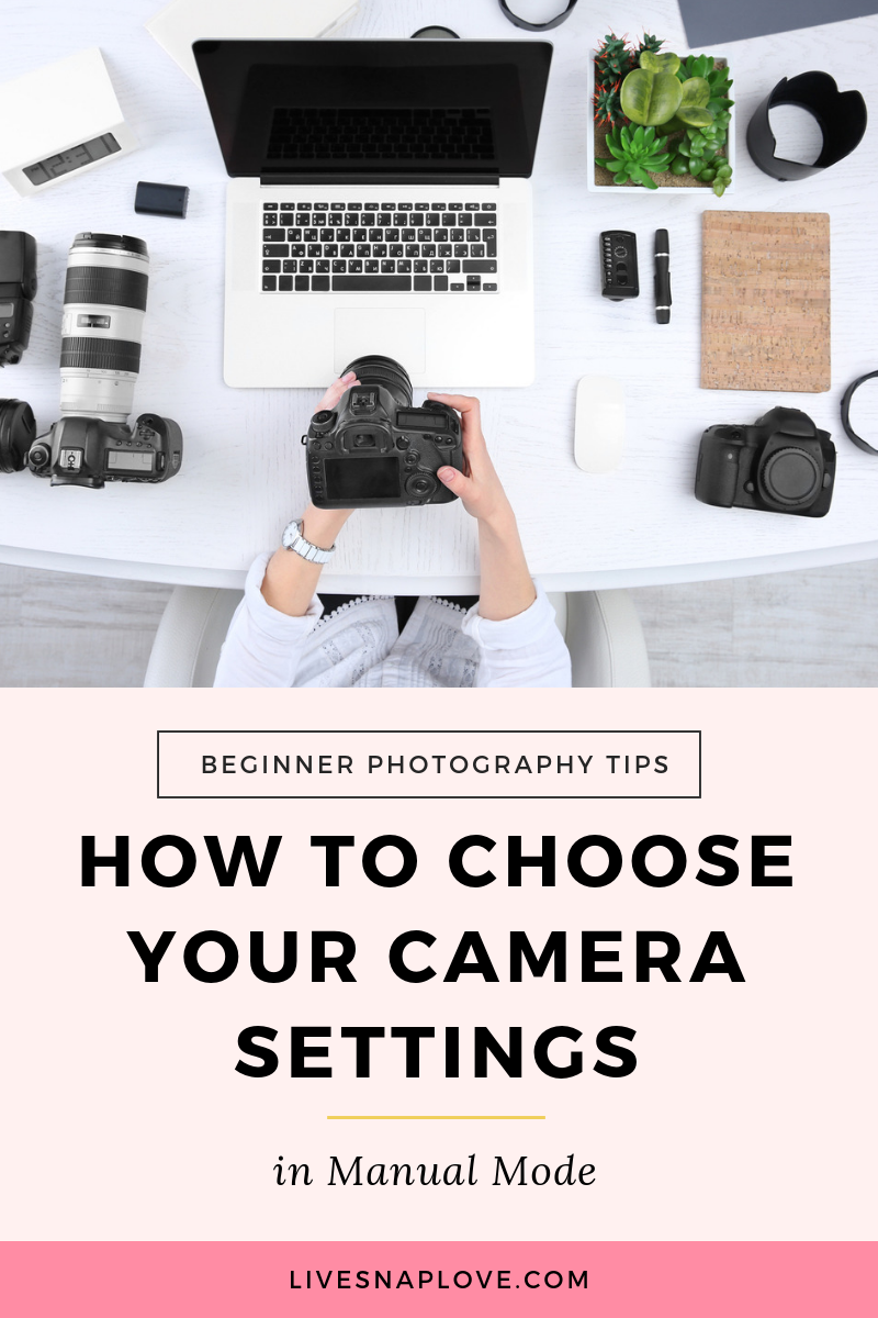 Learn how to choose your camera settings in manual mode with these manual photography tips and manual mode cheat sheet! | Beginner Photography Tips | Manual Mode | Aperture | Shutter Speed | ISO