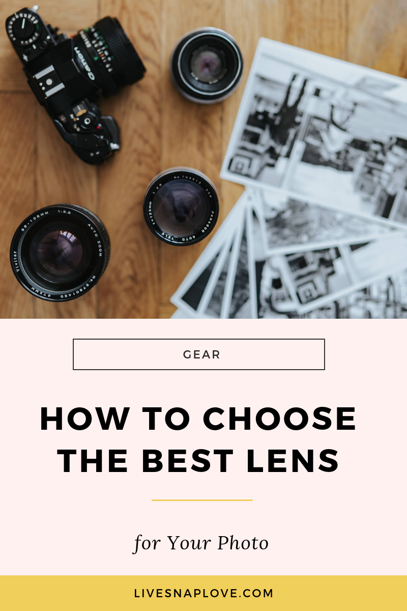 Learn how to choose the best camera lens for your your photography in this DSLR lens guide. Learn about canon camera lenses, nikon lenses, and which ones suits which types of photos! Click through to read (and grab a guide to lenses at the same time!)  #phototips #photography tips