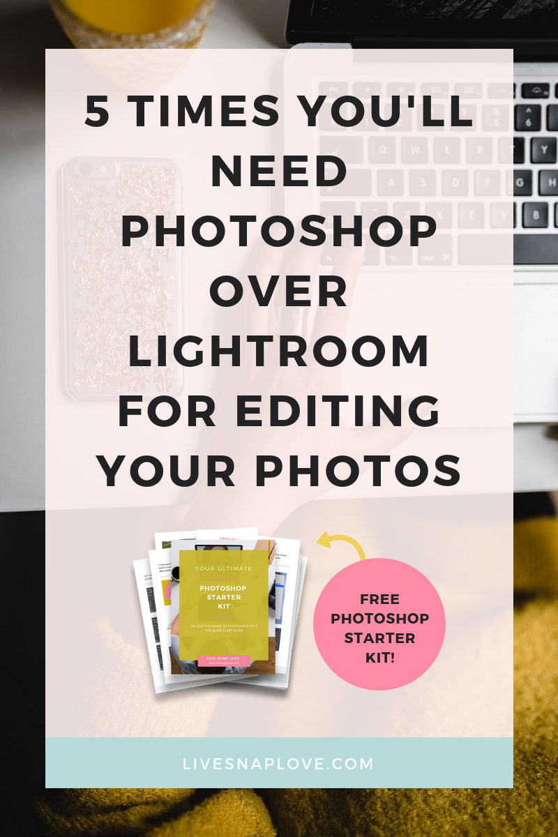 Wondering when to use Lightroom vs Photoshop? In this Photoshop for beginners tutorial,  we walk you through when you should do your ediitng in Lightroom, and when you should use Photoshop for edits!