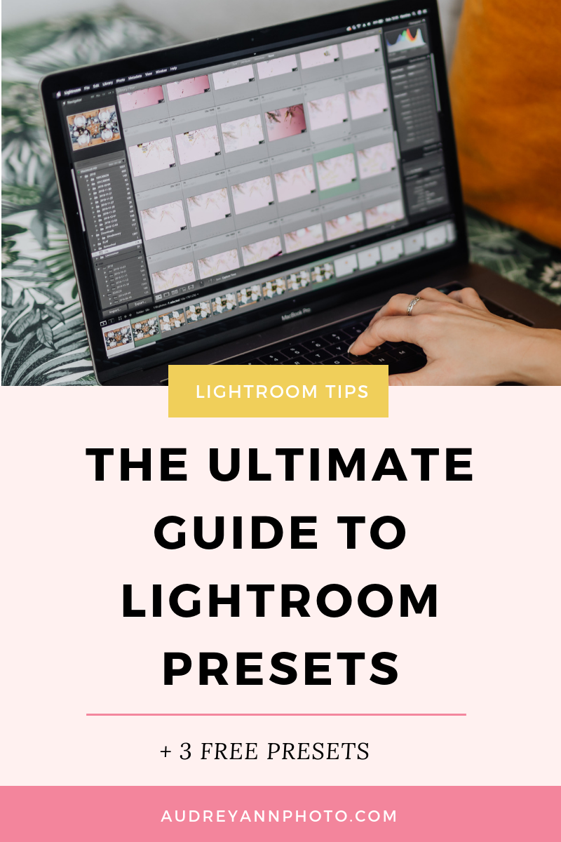 In this ultimate Lightroom presets tutorial, I'll show you how to use lightroom presets step by step, along with how to make lightroom presets, and tweak the ones you have! Plus you can also get your hands on some free Lightroom presets to download! Click through to read this lightroom for beginners tutorial! #lightroom #presets