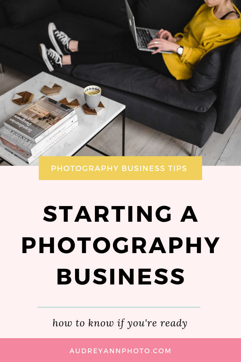 Thinking about starting a photography business but not sure if you're ready? This post will help you! You'll understand what skills you need to have under your belt to start your own photography business, even if you're a beginner, and what your next steps should be  #phototips #photographybusiness