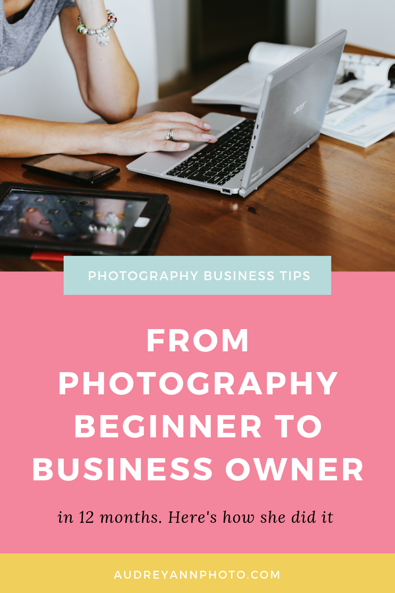 Thinking about starting a photography business? Then read on to learn how Whitney went from photography beginner to photography busines owner and in just 12 months. #photographybusiness #photographytips #phototips