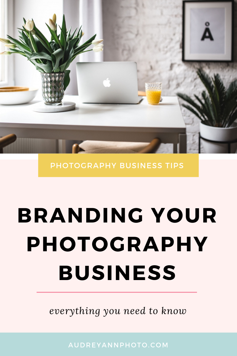 Starting a photography business? Then you need a brand!  In this photography business branding tutorial, you'll learn the nitty gritty of creating a cohesive brand for everyrhing from your logo to your website. #photographybusiness #phototips