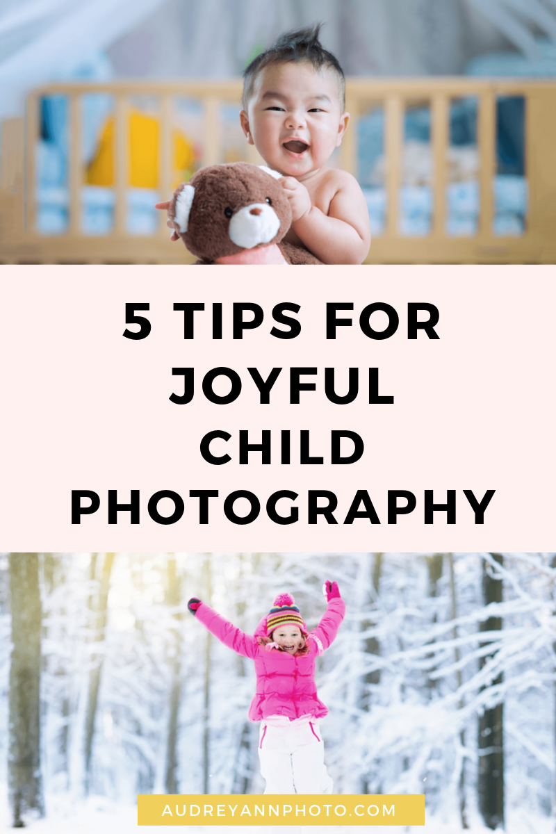 Learn how to take better photos of your kids with these child photography tips! You'll get photography tips and tricks that will help you show the joy of chlidhood - and help you get your best photos of your kids yet! #childphotography #phototips #photographytips