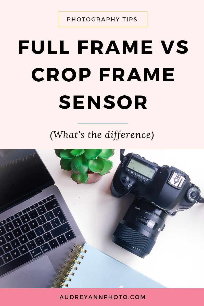 Full frame vs crop sensor - what's the difference? And what's the best for you? This photography tutorial covers it all!  Learn the difference between a full frame and crop frame sensor, what a sensor even is, and how this is going to affect how your lens focal length performs.  Click through to read in full!
