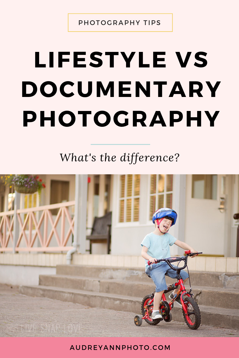 Ever wondered what the difference is between lifestyle and documentary photography? This post will help you!