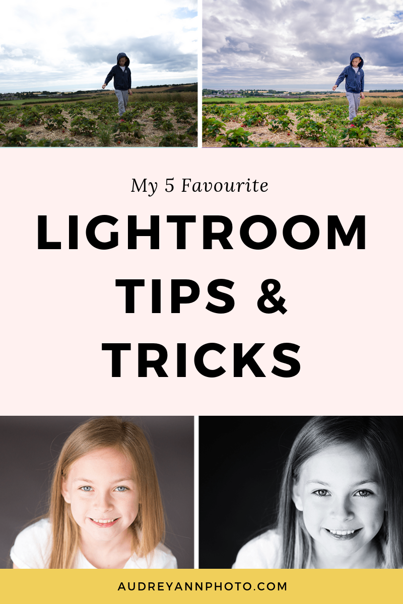 Learn my 5 Faourite Lightroom tips and tricks for making the most of your photos in this helpful Lightroom for beginners tutorial! #lightroom #photoediting #phototips