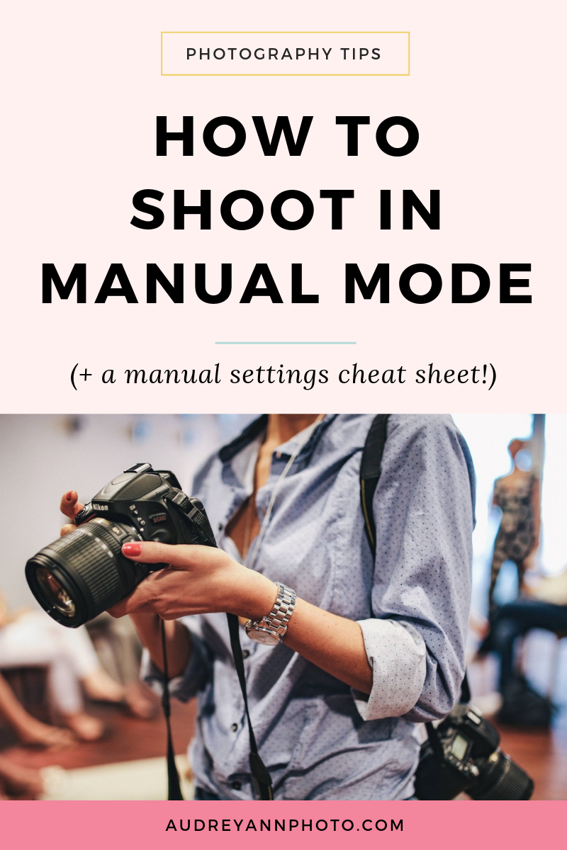 Learn how to shoot in manual mode (and grab a manual settings cheat sheet!)  in this beginner photography tutorial! We'll cover everything you need to know for manual photography: the camera settings, the camera aperture to use, your ISO settings, and more!