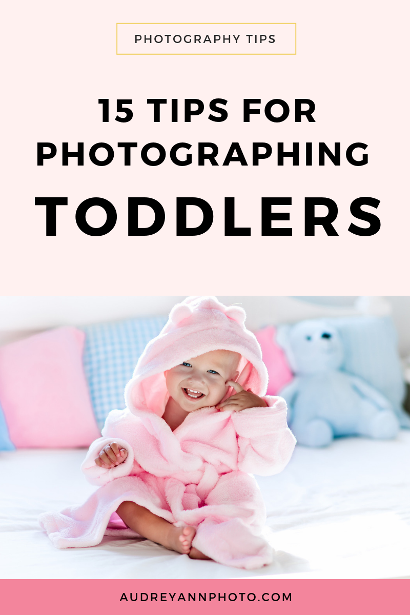 These toddler photography tips will help you get amazing images of your toddler! You'll get ideas on how to get them to sit still, toddler photography poses, how to get them to to smile for the camera and more!