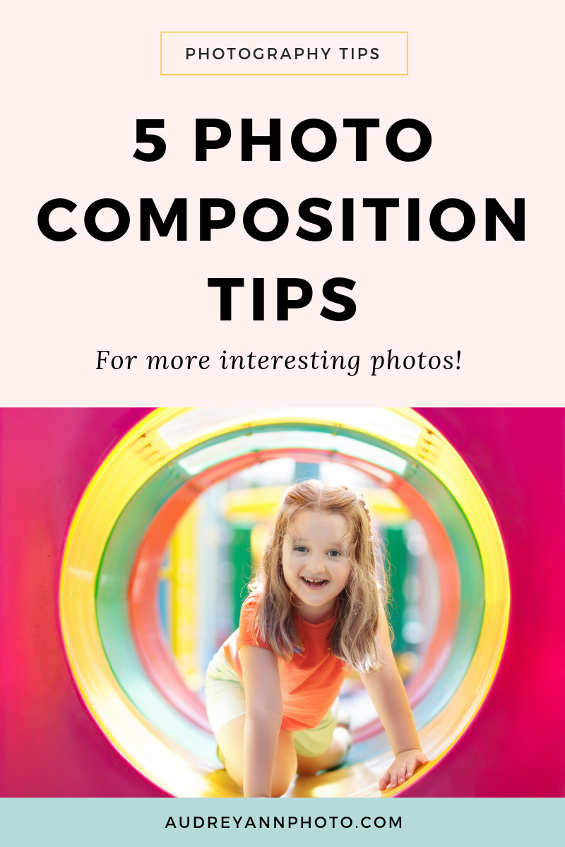 Learn all about simple photo composition you can use today to help you get more interesting photos! These beginner photography ideas for composition will help you make your images look more professional too!