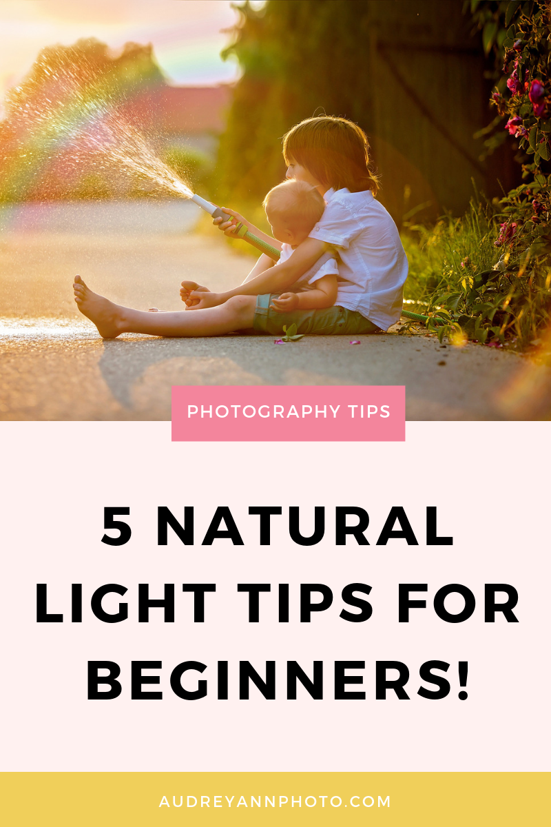 Learn all about lighting for photography with these natural light photography tips especially for beginners.  Learn about light in photography, so you know how to use indoor light and outdoor light for your photos!