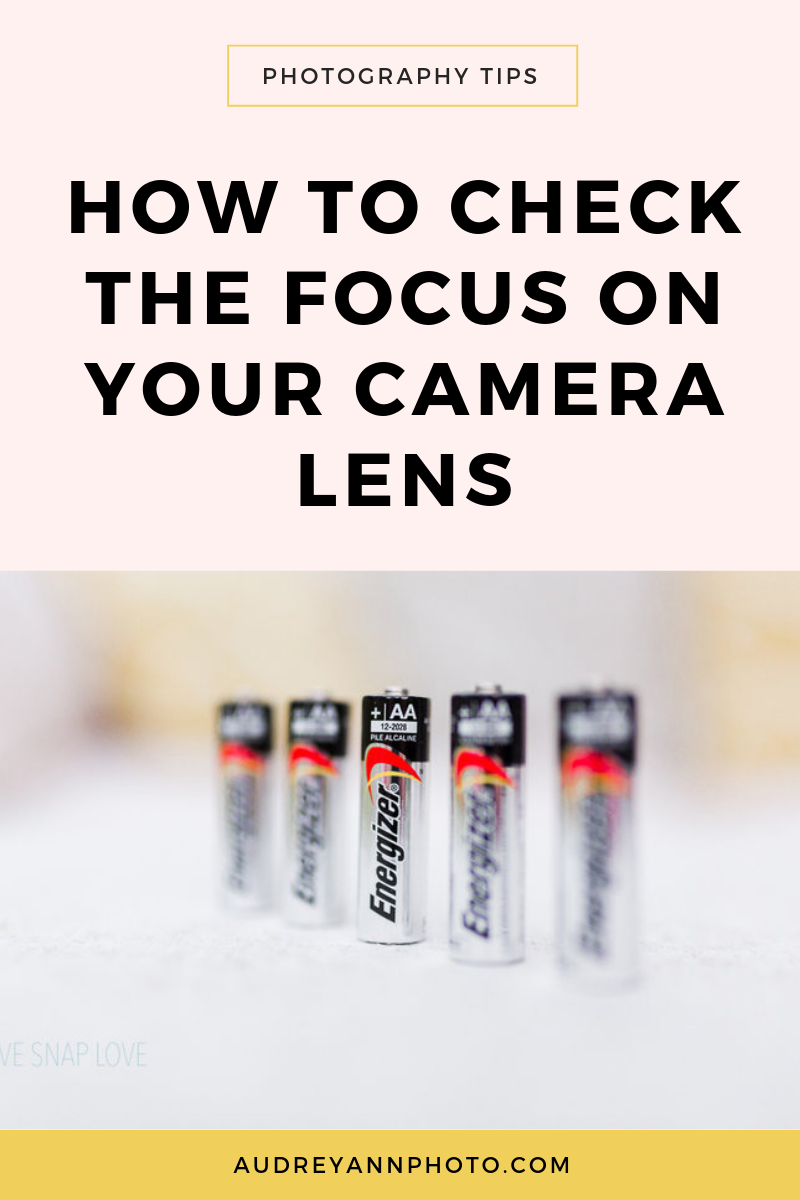 If you're not getting sharp photos, one thing you can check is the lens focus, to make sure it's not front or back focusing! Here's how to do it: