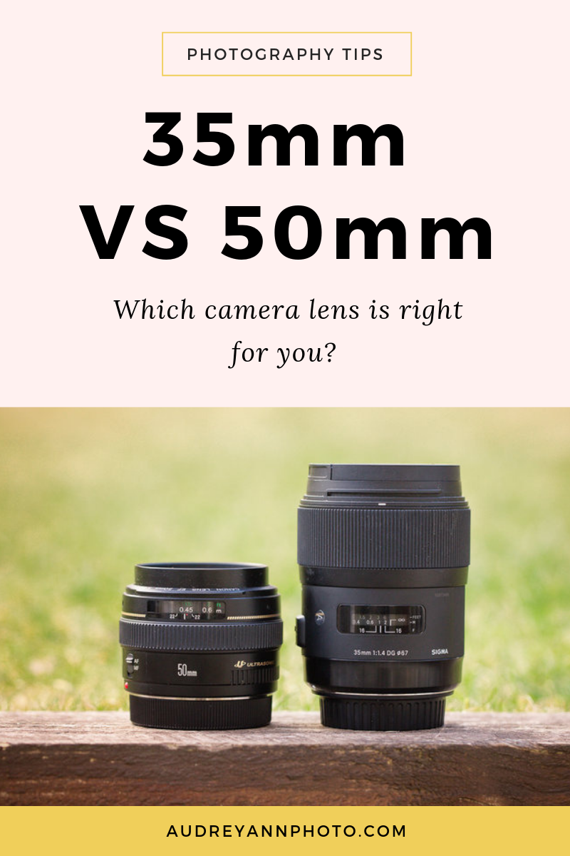 35mm vs 50mm lens - which is right for you? Get a lens focal length comparison between the two, along with example photos, and when to use each one! Suitable for both Canon and Nikon users.