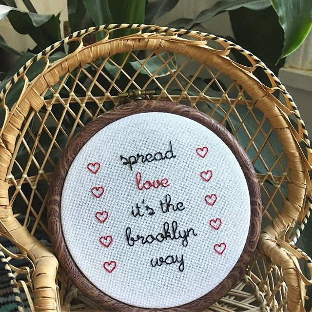 SPREAD LOVE ❣️❣️❣️ TODAYS THE DAY! @ourdamnselves market from 12-6 at the Brooklyn Bazaar to support @maketheroadny ! Buy a stitch for a great cause! @dustyrosevintage . . . . . . #MakeStitchesGetMoney #CrossStitch #BackStitch #hooploom #DIY #gangstagrams #rap #hiphop #oldschool #crafts #crossstitching #backstitching #stitching #needlework #handmade #wallart #homedecor #shophandmade #wallhanging #oneofakind #lyrics #custom #customorder #supportlocal #shopsmall #brooklyn #spreadlove #notoriousbig #biggie #customdesign