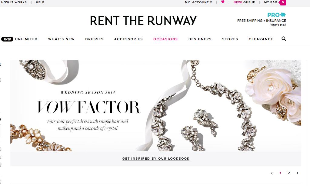 Rent The Runway - bridal