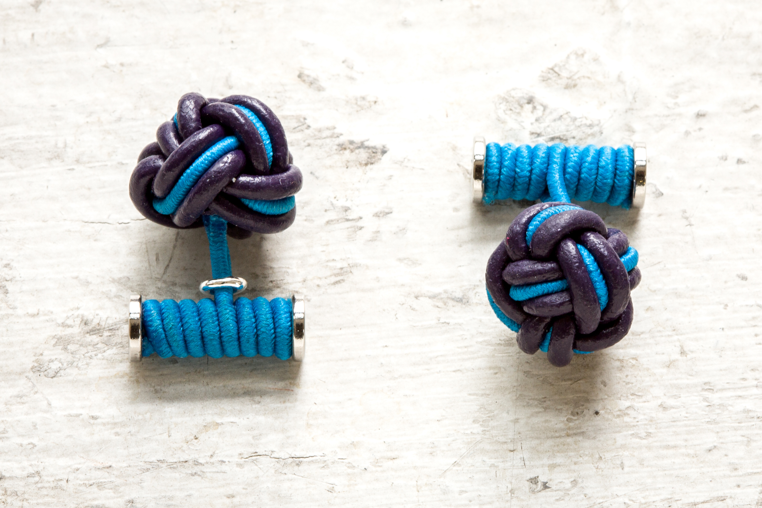Blue baby blue leather knots.jpg