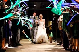 Glow sticks make for a funkier twist on the send off. You could also customize your glow stick colors.