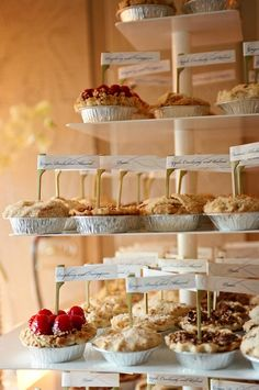 One of our brides opted for individual fruit pies. Everyone LOVED them.